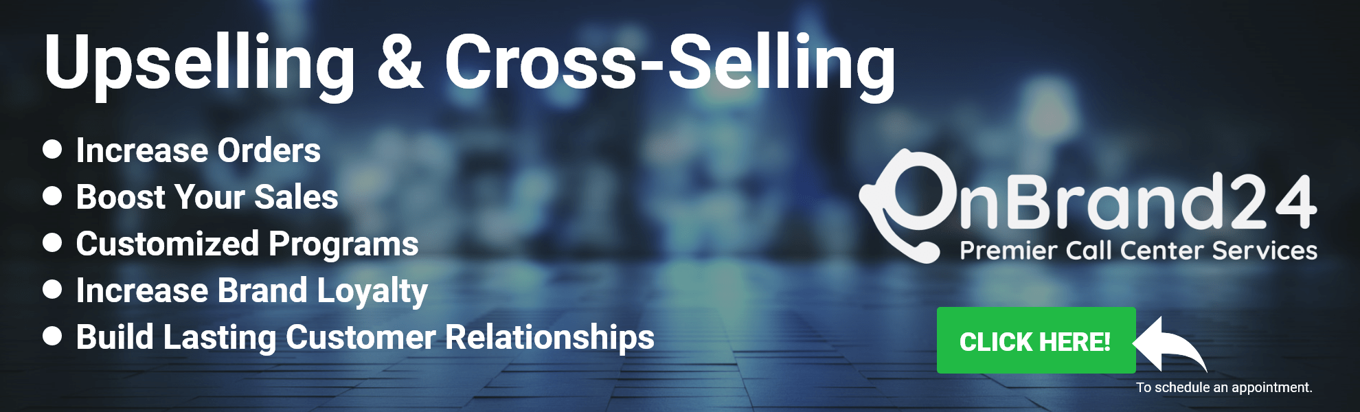 OnBrand24 Inbound Customer Service Cross Selling and Upselling